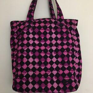 Nike Large Tote Pink/Black Checkered Pattern